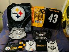 Pittsburgh Steelers Apparel - (Throw Blanket, terrible towel, 2 bags, clothes)