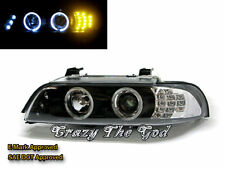 E39 1995-2003 95-03 Angel-Eye LED*3 Projector HEADLIGHT W/LED Black for BMW