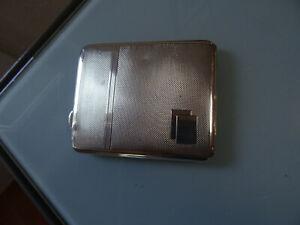 Zigarettenetui, Sterlingsilber 925, englisch, Art Deco