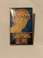 Vintage Staying Alive Pinback Pin New Old Stock