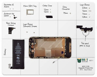 Magnetic Project Mat Screw Work Pad for Mobile Phone Repair iPhone Samsung 30x25