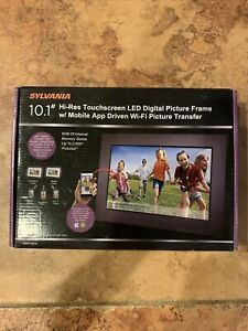 """Sylvania 10.1"""" Hi-Res Touchscreen LED Digital Picture Frame w/ Mobile App Driven"""