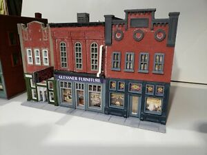 """(1) """" S """"  SCALE,  DOWNTOWN BUILDING,  3 BUILDINGS IN ONE  3D PRINTED 1/64  1:64"""