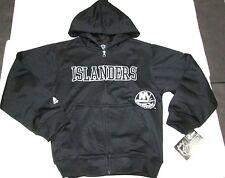 New Nhl New York Islanders Boys Embroidered Full Zipper Hooded Sweatshirt M