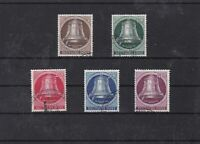 germany berlin freedom bells 1951 used stamps set cat £225  ref 7594