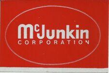 McJunkin Corporation Vintage Unused Mining Hard Hat Deca 00002115 l Sticker