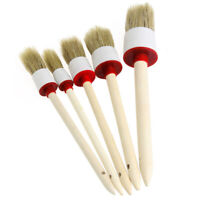 5Pcs/set Soft Car SUV Detailing Wheel Wood Handle Brushes for Cleaning Dash W8X4
