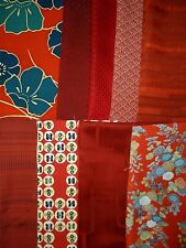 Vintage Japanese Silk Kimono Fabric Lot Offcuts Quilting Patchwork K-15