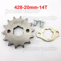 428 14 Tooth 20mm Front Engine Sprocket Set For Chinese Dirt Pit Bike ATV Qaud
