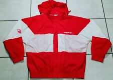 Rare Vintage ADIDAS ORIGINALS D10 RED Hoodie Windbreaker Jacket Men's XL