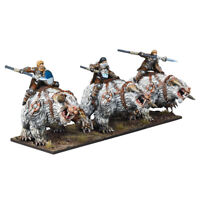 3x Frost Fang Cavalry - Kings of War Northern Alliance