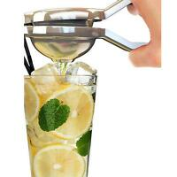 Silver Stainless Steel Fruit Lemon Orange Citrus Hand Press Squeezer Juicer New