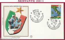 ITALIA FDC FILAGRANO GOLD NAPOLI CAMPIONE D'ITALIA 1989  90 1990 ANNULLO T74