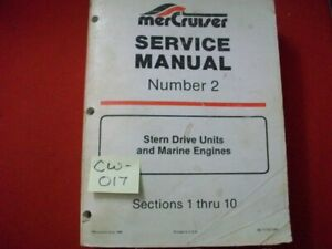 1986 FACTORY ISSUED MERCRUISER SERVICE MANUAL STERN DRIVE UNITS & MARINE ENGINES