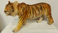 "Large Standing Yellow Tiger 16"" Collectible Wild Animal Tiger King Statue NEW"