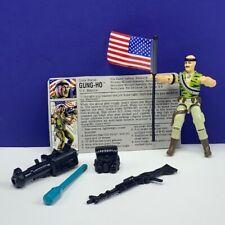 Gi Joe Cobra action figure vtg military Hasbro complete 1992 Gung Ho flag marine