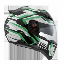CASCO HORIZON AGV E2205 MULTI STAMINA BLACK/WHITE/GREEN TG. XL