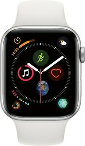 Apple Watch Series 4 (GPS) 44mm Silver Aluminum Case White Sport Band - Silver