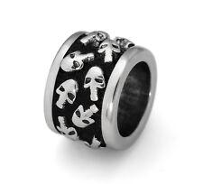 Stainless Steel Skull European Bead Skull Charm For European Charm Bracelets