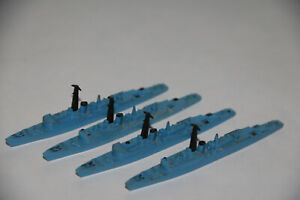 TRIANG MINIC SHIPS 4 V CLASS FRIGATES BLUE