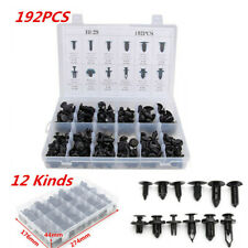 192Pcs Car Body Bumper Push Pin Rivet Fastener Clips Moulding Assortment Kits