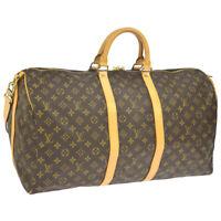 LOUIS VUITTON KEEPALL 55 BANDOULIERE TRAVEL HAND BAG M41414 TH1926 AK38409a