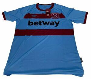 West Ham United Away Shirt 2020 2021 L Large Football Jersey England Umbro