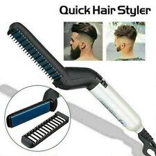Hair Straightener Brush Men Fast Beard Straightener Beard Hair Comb Curler Gi.ZT