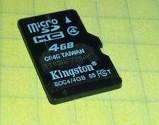 Kingston SDC4/4GB 4GB SDHC Micro SD Memory Card - FREE SHIP!
