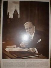 Photo William Mackenzie King Canada Prime Minister 1948