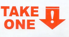 1 Outdoor Sticker TAKE ONE for Vehicle Card Holder Cars