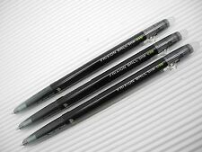 3pcs PILOT retractable FRIXION ball slim 0.38mm Gel roller ball pen Black ink