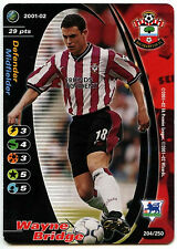 Wayne Bridge Southampton #204 FOOTBALL CHAMPIONS TCG 2001-2 commercio CARD (c245)