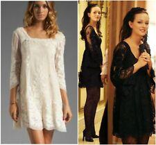 Anna Sui Cream Lace Bow Dress 0 Gossip Girl Blair Waldorf
