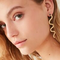 Fashion Exaggerated Long Serpentine Jewelry Snake Tassel Stud Earrings