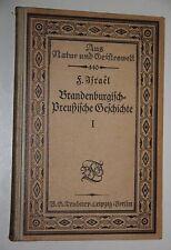Friedrich Hermann: brandenburgisch-prusiana historia. 1. bd. hasta 1740. 1916.