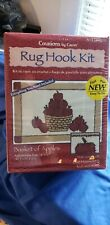 """New listing Creations by Caron Basket if Apples Hook Rug Kit 18""""x27"""" New"""