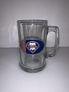 Philadelphia Phillies MLB Glass Beer Mug Stein Pewter Logo Heavy Man Cave