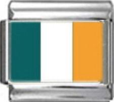 IRELAND IRISH FLAG Photo Italian Charm 9mm - 1 x PC084 Single Bracelet Link