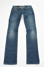 "Blue Denim DKNY JEANS Straight Stretch Faded Distressed Jeans Size 28 L36"""