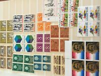 Netherlands nhm stamps period 1950-1980 in blocks of 4