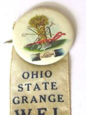 1928 AGRICULTURE FRATERNITY GRANGE , OHIO STATE WELCOME MOUNT VERNON PIN