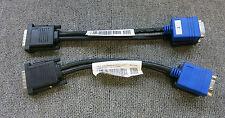 Lote De Trabajo 3 X Splitter Cables Dvi Dell 05H469 DVI macho a hembra VGA doble 15-Pin
