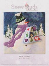 Snow Buds by McKenna Ryan, Snow and Tell Quilt Pattern, Block 1 Snowman DIY