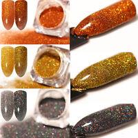 3 Boxen Holographics Nail Powder Nagel Kunst Puder Glitter Holo Nail Art Pigment