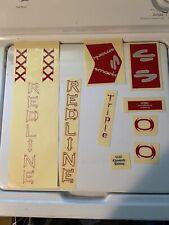 REDLINE BMX TRIPLE XXX X DECAL STICKER SET NEW GENUINE