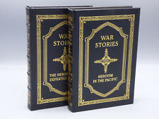 "Easton Press ""War Stories"" by Oliver L. North Vol. I & II Signed Edition"