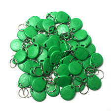 50pcs Green RFID 125KHz EM4305 Proximity Access Tag Keyfobs Writable Rewritable