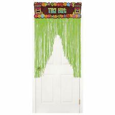 Tiki Hut Decorative Fringed Door Curtain Hawaiian Party Decoration New & Sealed