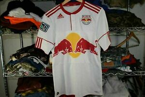 New York Red Bull Soccer Jersey Adidas Small White